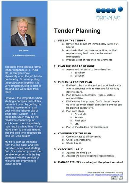 Tender Planning Guide